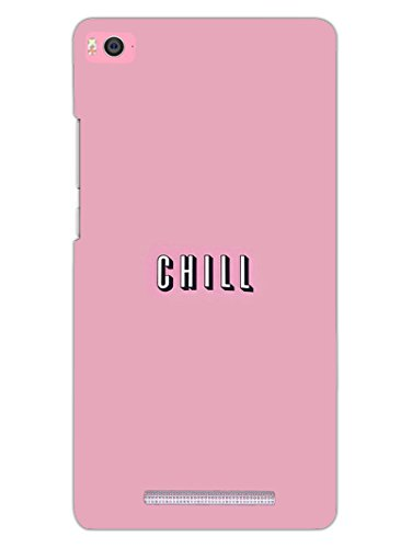 Mi 4i Back Cover - Take A Chill Pill - Quote - Hard Shell Back Case  available at amazon for Rs.469