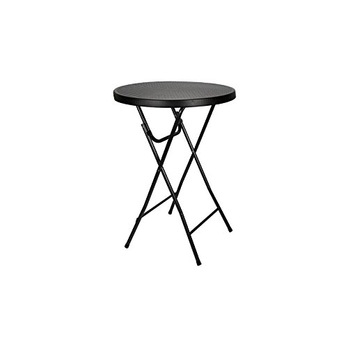 TOOLLAND – fp185r tolland, table ronde pliante aspect rotin, 80 cm x 110 cm Dimensions