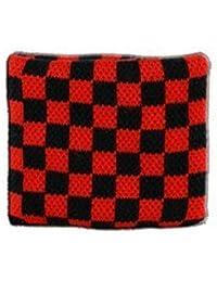 Digni® Poignet éponge avec drapeau Damier Rouge-Noir