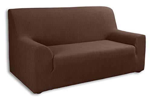 Tural Elastischer Sofabezug Valeta. Sofaüberwurf, Braun, 3 Sitzer (180-230cm) -