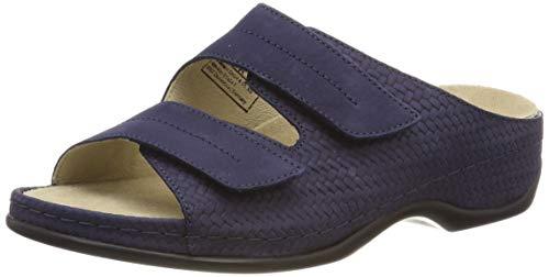 Nubuk-leder-comfort-clogs (Berkemann Damen Daria Pantoletten, Blau (Navy 397), 40 EU)