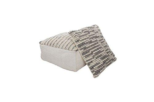 Hocker Sitz-Würfel Modern Design Shaun Pouf 510 Bean Bag gestrickt Muster Wollmischung 80x80 cm...