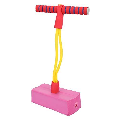 Alomejor Schaum Pogo Stick Kinder Springen Übung Bungee Jumper mit Sounds & Lights für Kleinkinder (Rosarot)