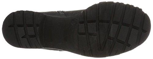 Boot Motardes Femme Black Bottes Schwarz Chunky Bianco AR57qwT5