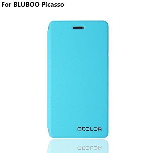 Funda para BLUBOO Picasso de PU Cuero Leather Carcasa para BLUBOO Picasso de Excelente Resistencia y Parachoque. Cubierta Enrrollada Perfectamente al Móvil