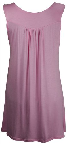Blusa da donna taglie forti con dettaglio di perline sul collo, tunica ornata con perline Baby Pink