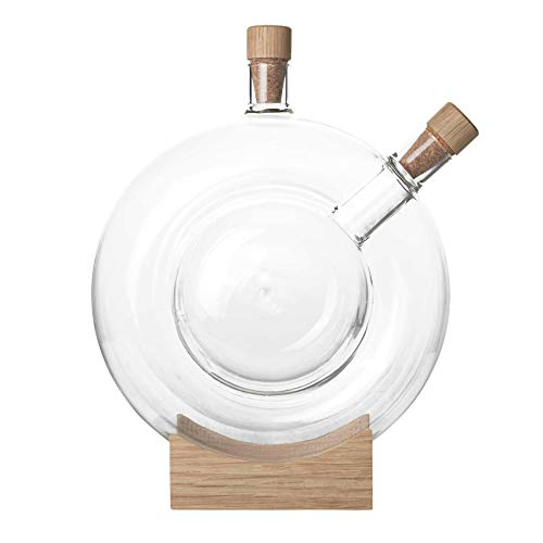 Mater Double Bottle Karaffe, transparent BxHxT 20x25x7,5cm innere Karaffe 300ml äußere Karaffe 1400ml
