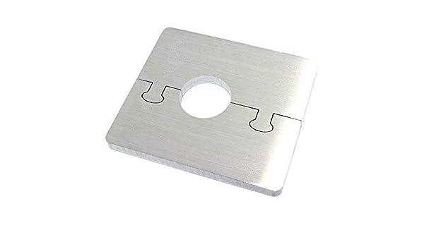 Exclusif Acier Inox Rond Radiateur Rosette 16 mm de diam/ètre de tuyau Single pour Chauffage /Ø 12-28 MM