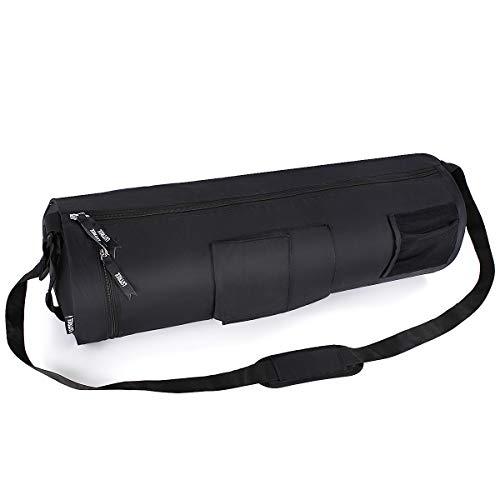 Lvtree üBung Yoga-Mattenbeutel, Verstellbarer Schultergurt, großer multifunktionaler Aufbewahrungshalter, der Fitness-Taschen trägt - für die meisten Matten, schwarz