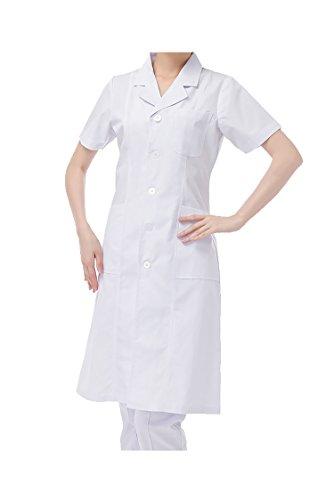 WDF laborkittel kittel medizinische kittel weiß arztkittel weiße damen kurzarm lange unterabschnitt Kurze Ärmel