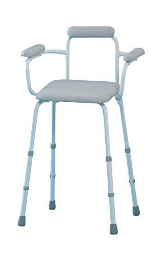 Homecraft Sherwood Perching Shower Stool with Padded Back and Arms