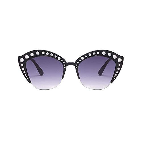 WERERT Sportbrille Sonnenbrillen Fashion Cat Eye Pink Sunglasses Women Shades Mirror Female Rhinestone Sun Glasses for Women Coating UV400
