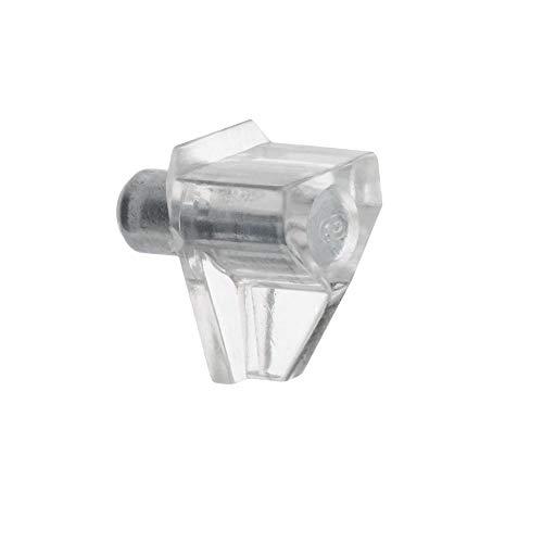 FURNICA Soportes de estantería con varilla de acero (Plastique Transparent - 100pzas)