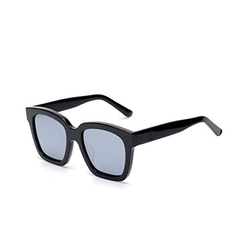 LQQAZY Sonnenbrille Weiblich Gezeiten Rundes Gesicht Polarisierte Sonnenbrille Persönlichkeit Männlich Blendschutzbrille Coole Design-Sonnenbrille,THEBlackBoxMercury