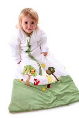 Slumbersac Forest Friends – Saco de dormir de invierno para bebé (manga larga, 3.5 tog, varias tallas: 0 meses a 6 años), diseño de amigos del bosque