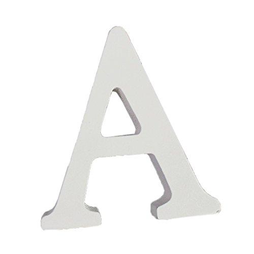 Weiße Holzbuchstaben 8cm von A-Z für Kinderzimmer Oder Tür, persönliches Geschenk & Dekoration (Preis Pro Buchstabe) (A)