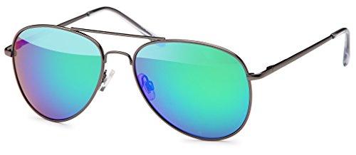 Pilotenbrille Sonnenbrille 70er Jahre Herren & Damen Sunglasses Fliegerbrille verspiegelt...