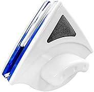 فرشاة تنظيف النوافذ الزجاجية مغناطيسية مزدوجة الجانب مناسبة لنافذة بسمك 15- 26 ملم، اللون الأزرق