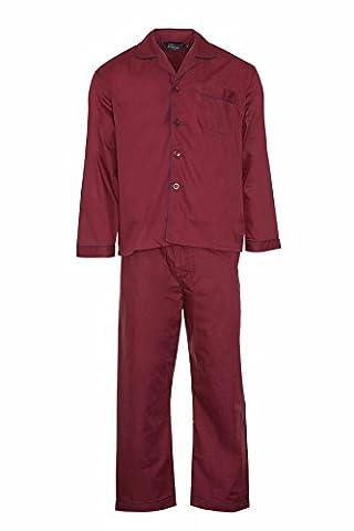 Champion longues pour homme en coton avec bouton avant lounge Pyjama Pyjama Selebritee usure - Violet - Large