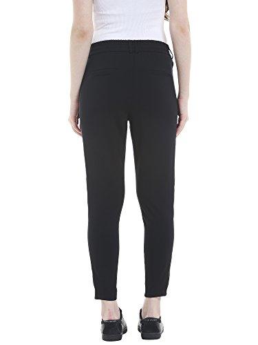 ONLY Damen Hose Onlpoptrash Easy Pant Satin Panel Schwarz (Black)