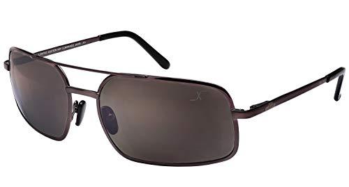 Xezo UV 400Titan Polarisierte Sonnenbrille mit Antireflex Spiegel Objektive, Dark grau metallic, 0,7oz