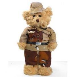 b84015238e3 Camouflaged Military Yellow Ribbon Stuffed Teddy Bear by PLUSHLAND BEARS
