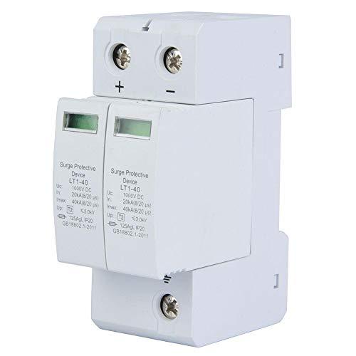 Überspannungsschutz 2P House, 2P 1000V-Rückhaltevorrichtung, 36-mm-Standardführungsschiene, PC-Brandschutzgehäuse(2P40KA)