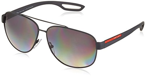 Prada Sport Herren 0PS58QS TFZ5W1 63 Sonnenbrille, Grau (Grey Rubber/Polargrey)