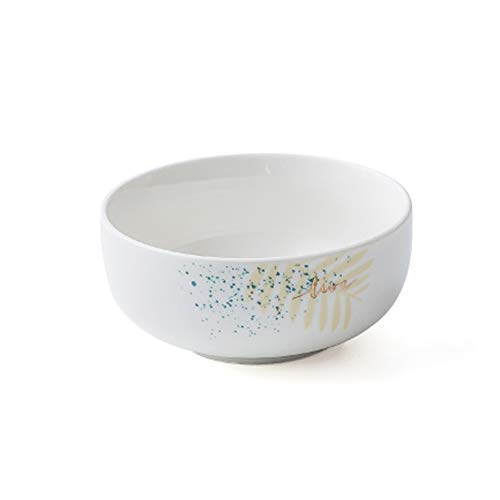 HYDT Bol Assiettes bols, Vaisselle ménagère, Vaisselle de table en céramique, Convient au déjeuner et au dîner, Libre de mélanger, Cuisson à haute température (Couleur : Rice bowl)
