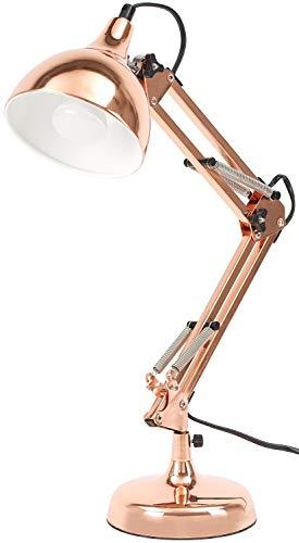 BRUBAKER Lámpara escritorio metálica clásica -