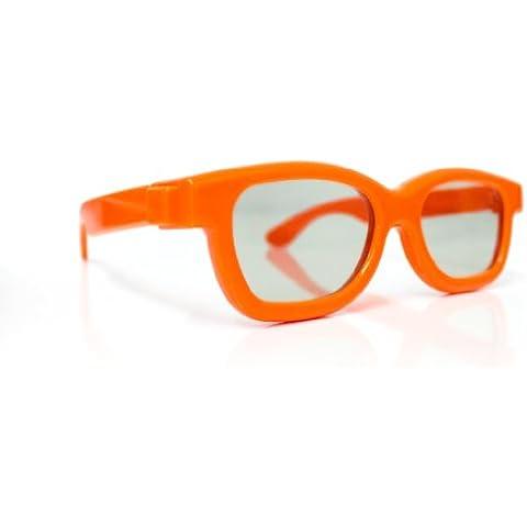 Gafas 3D para niños Universal gafas 3D pasiva para niños Cinema 3D de LG, Philips Easy 3D, Panasonic, Toshiba, Grundig y RealD cines en naranja NUEVO de la marca