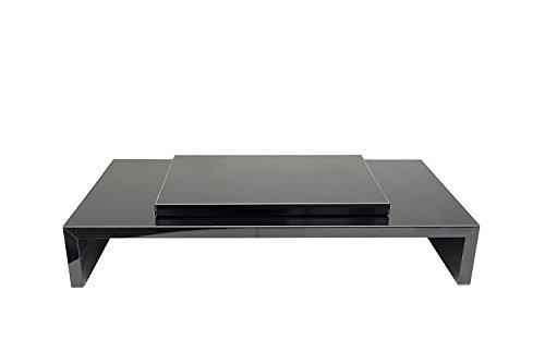 Die Klassische Moderne Tv-ständer (Hermes Möbel Design Monitortisch Bildschirm Ständer Monitor Erhöhung Schreibtischregal Standfuss Hochglanz Schwarz Verschiedene Größen drehbar Schwarz Glanz B 90 x H 12 x T 30)