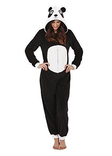 Damen Overall Loungeable Damen Pyjama 3D Ohren Overall Schlafanzug - Paula Der Panda, 40-42 M