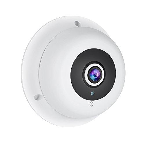 Revotech® - Audio HD 1920 x 1080P 2.0MP Nachtvision Panorama Fisheye 6 Array LED IP Kamera Sicherheit Kamera ONVIF P2P CCTV Kamera mit IR-Schnitt (IF04-Audio weiß) Led-array