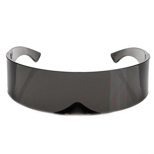 ZeroUV - Futurista Wrap Around Monoblock Schild Sonnenbrille, ZV-8762i, Schwarz, ZV-8762i Einheitsgröße