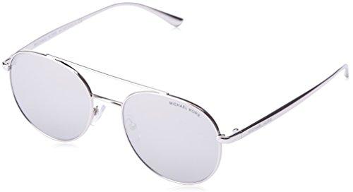 Michael Kors Unisex-Erwachsene Sonnenbrille Lon Grau(Silver 10016g), 53