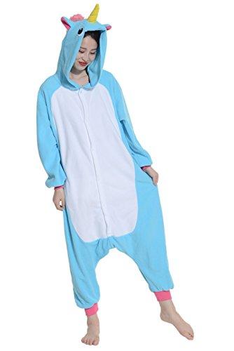 Imagen de pijamas animales unicornio mujer invierno cosplay traje disfraz adulto
