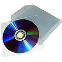 200fundas de plástico transparente para CD/DVD con solapa de cierre
