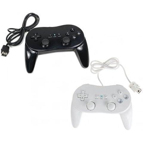Tanzimarket - Segundo de alta calidad de mando clásico Pro Generación Para Nitendo Wii Negro -
