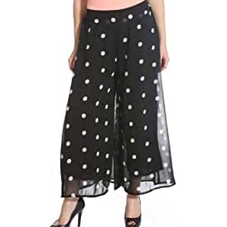Raabta Black with white polka dot Palazzo