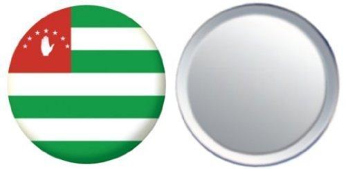 Miroir insigne de bouton Abkhazie drapeau - 58mm