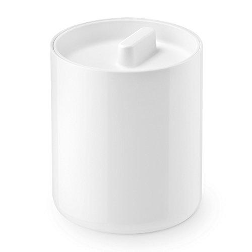 Authentics Lunar Boîte Blanc avec Couvercle Blanc, Pour Coton, Plastique, 1200498