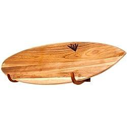 COR Surf Support Mural Planche de Surf pour Longboards et Shortboards Fonctionne pour Expostion Intérieur et Extérieur - Fabriqué à Partir de Bois Durable Ecologique