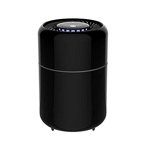 Détecteur de moustiques à rayons ultraviolets Photorécepteur Non Radiation No Noise Photocatalyseur intérieur Inhalation Sécurité et santé (135 * 135 * 208 mm) , black