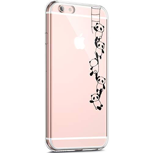 Surakey Schutzhülle für iPhone 6 / 6S TPU Silikon weich Transparent mit Muster