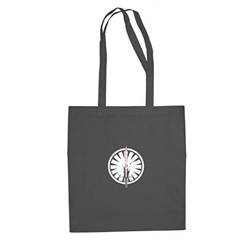 Planet Nerd SW: Kylo Ren Logo - Stofftasche/Beutel, Farbe: grau (Kostüm Leia Jabba Prinzessin)