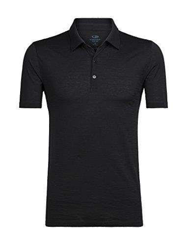 Icebreaker Herren Tech Lite SS Poloshirt, Black, XL - La Tech-bekleidung