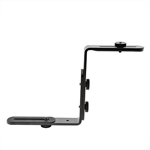 MENGS 1/4' Schraube Doppel L Förmigen Metallbügel Halter Halterung für DSLR Kamera und Blitzgerät