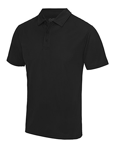 Just Cool - Herren Funktions Poloshirt 'Cool Polo' / Jet Black, XL XL,Jet Black