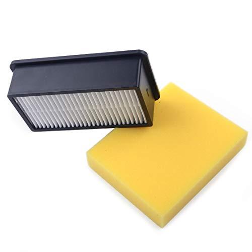 Filtre HEPA et mousse d'embase pour aspirateur Bissell CleanView PowerLifter 2032663, papier mousse, mousse Taille 10,9x8,6x2cm